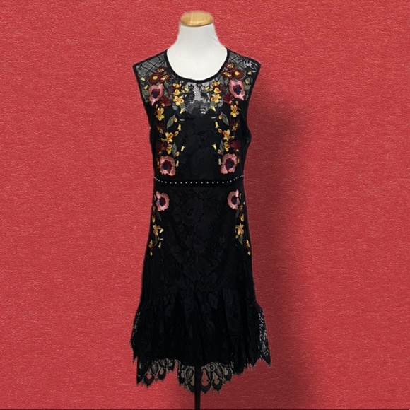 cklass Dresses & Skirts - Cklass Mexican Style Lace Embroidered Dress L